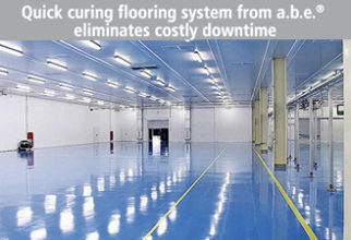 Quick Curing Flooring System From a.b.e.® Eliminates Costly Downtime