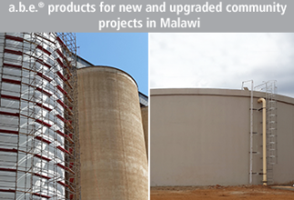 a.b.e.® Products For New And Upgraded Community Projects In Malawi
