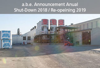 a.b.e. Announcement Annual Shut-Down 2018 / Re-Opening 2019