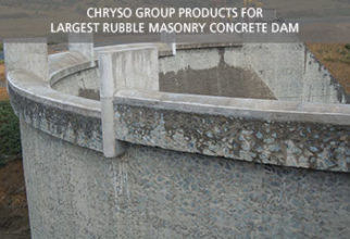 CHRYSO Group products for largest rubble masonary concrete dam