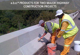 a.b.e. Products for two major highway construction projects