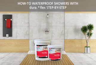 Waterproofing showers with dura.flex® step-by-step