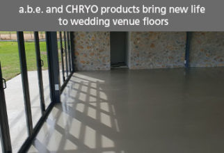 a.b.e. and CHRYSO products bring new life to wedding venue floors