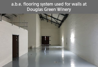 a.b.e. FLOORING SYSTEM ALSO USED FOR WALLS AT DOUGLAS GREEN WINERY