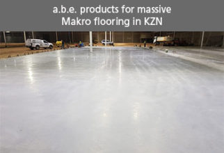 a.b.e. products for massive Makro flooring in KZN