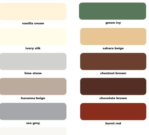 Colour Chart Abe Cote 337 Tough Epoxy Paint A B E Construction Chemicals