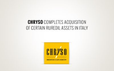 CHRYSO acquires certain Ruredil assets