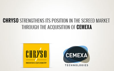 CHRYSO strengthens its position in the screed market through the acquisition of CEMEXA